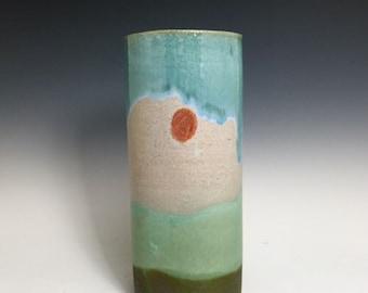 Stoneware; Medium-Sized Bud Vase; Fine Art Ceramics; Florida Keys; Back Country Series