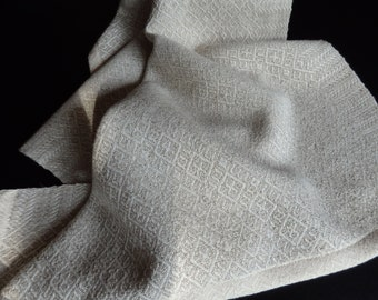 Handwoven Organic Cotton and Organic Cotton and Linen Blend Towel in Natural Colors