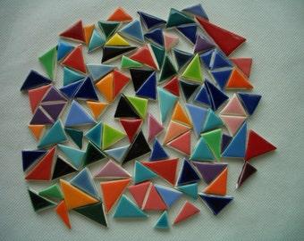 100t - 100 plus pc COLORFUL TRIANGLES - Ceramic Mosaic Tiles