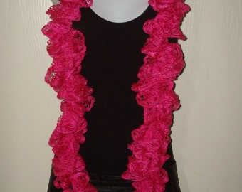 Fashion Infinity Ruffle Scarf Bright Pink/Sashay/Women's Scarf/Women's Accessories/Ruffle Cowl/Ruffle Neck warmer/Fashion Accessory/Neckwrap