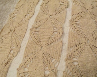 """Vintage Lace Hand Crocheted 73"""" x 4 1/2"""" wide"""