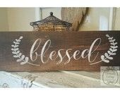 Handpainted Blessed sign