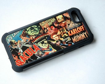 Halloween Phone Case, Horror Movie Poster Phone Case, Classic Monsters Phone Case, iPhone 6 Case Hipster, iPhone SE, iPhone 5 Case, Samsung