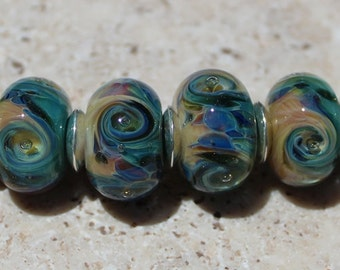 LEMON SQUEEZE Artisan boro beads by JRG