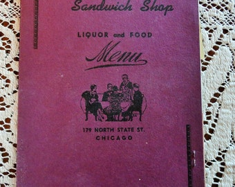 The 1940s 1950s Diner Menu Vintage Bob Ellmans Sandwich Shop State St Chicago Used Geo Cohons Rye Bread