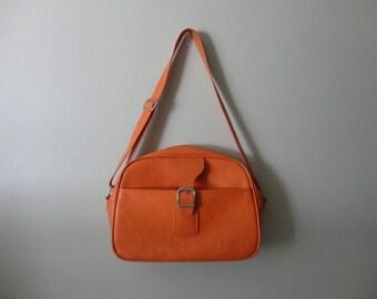 VINTAGE ORANGE samsonite messenger luggage BAG
