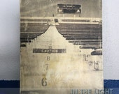 Notre Dame Stadium Wood Photo Transfer - Before the Echoes Awake 2 - Fine Art Photography, Home Decor, Man Cave, Vintage Distressed Wall Art