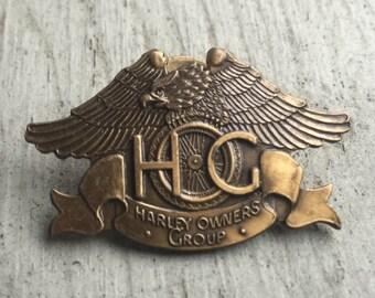 RARE 1982 Harley-Davidson Owners Group HOG Pin