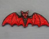 HALLOWEEN BAT MAGNET Handpainted Fridge Magnet Folk Art