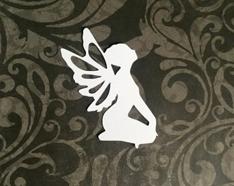 Fairy die cut embellishments in any color set of 6 great for card making