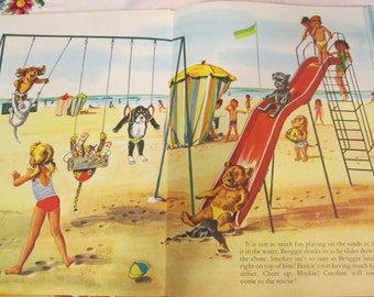 Caroline at the Seaside vintage HC children's book Pierre Probst & Jane Carruth