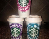Name vinyl sticker decal for cup Starbucks reusable cup