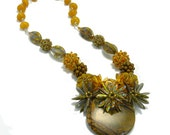 Gold and Earth Toned Statement Necklace - Earth Magic