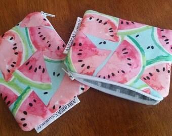 watermelon coin purse - small change purse -watermelon pouch