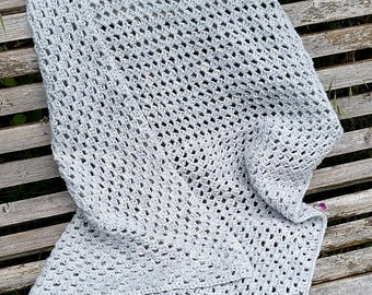 Warm and Woolly Grey Baby Blanket