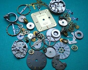Vintage steampunk watch parts sampler, No. 3