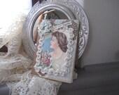 Friendship Card - Handmade Card - Victorian/Vintage Lady Card