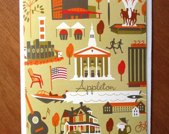 Fall in Appleton, Wisconsin Note Cards