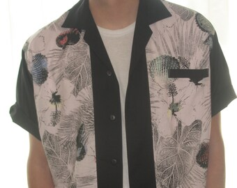 Men's Rockabilly Shirt Jac Sea Shell Print
