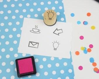 Handmade Large Lightbulb Planner Stamp