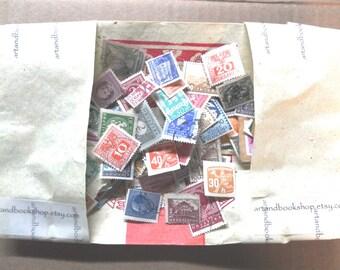 60 Vintage Postage Stamps