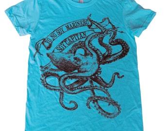 La Bamba Octopus T-Shirt - Womens T Shirt, Ladies Tee, Tri Blend Tee, Handmade graphic tee, sizes s-xL