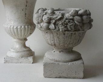 cement fruit flower urn