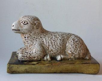chalkware lamb