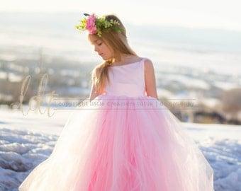 NEW! The Ella Dress in 'Rose Princess' - Flower Girl Tutu Dress