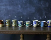 Vintage Pottery Mugs Ceramic Choose One or More Price for Each Some Studio From Nowvintage on Etsy