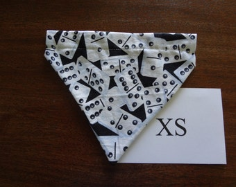 Domino themed -  dog bandana- over the collar- X small