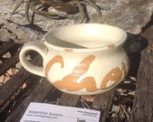 Salt fired Stoneware chowder mug bowlcup
