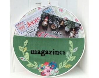 Magazine Storage Pocket Hoop pdf downloadable sewing pattern
