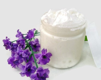 Whipped Shea Body  Butter - Japanese Cherry Blossom - 4 ounce - Vegan friendly.Body butter with coconut oil added by Nana J's Handmades