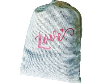 Love Sachets with Lavender - 3 Pack for Laundry or Drawer