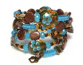 WALKING on the BEACH coil Beaded Bracelet by Beading Divas Fundraiser