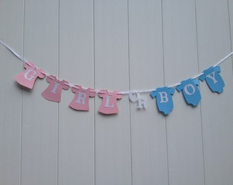 Girl or Boy Banner Gender Reveal Baby Shower Banner - Ready to Ship