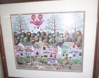 charles wysocki framed calendar for your restaurant or any kind of food store