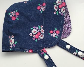 Baby Bonnet, Modern Baby Sun Hat, Baby Beach Hat, Girls Sun Hat, Baby Hat, Girl Bonnet, Boy Bonnet, Modern Bonnet, Reversible Bonnet