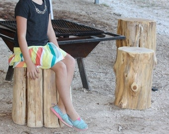 Rustic Tree Stump, Seat, Table, Stool, S,M, or L sizes available, unfinished, sanded ready for home, wedding, art, landscaping, project