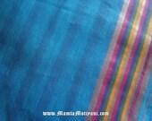 Cotton Sari Fabric By The Yard, Indian Saree Fabric, India Blue Fabric, Indian Fabric, Border Print Fabric, Sari Fabric, Ethnic Fabric