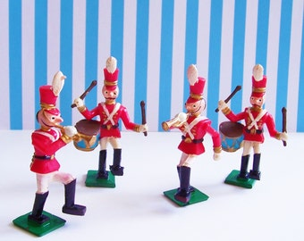 Four Vintage  Wilton Marching Band Cake Toppers