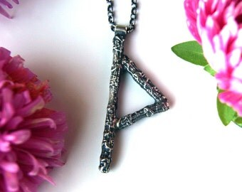 Wisdom and Awareness - Rune Sterling Silver Necklace