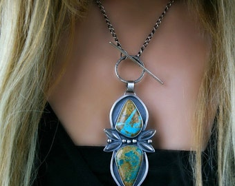 Pieces of Sky - Turquoise Sterling Silver Necklace
