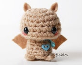 Baby Brown Bat - Kawaii Mini Amigurumi Plush