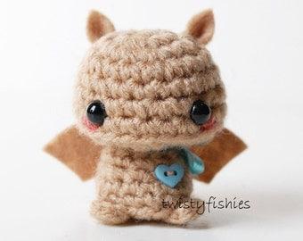 Baby Brown Bat - Kawaii Mini Amigurumi Plush