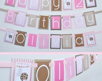 Milk & Cookies Birthday Party Banner Decorations Fully Assembled