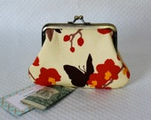 Coin purse - Change Purse - Butterfly Coin Purse -  Change Pouch - Kisslock Coin Purse