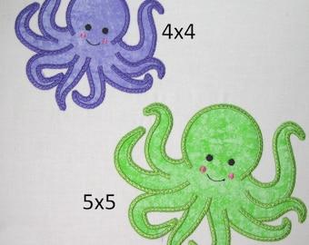 Machine Embroidery Design-Applique Octopus includes 2 sizes!