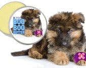 German Shepherd Boo Boo Butter Handcrafted All Natural Herbal Balm for Your Dog's Discomforts 1 oz tin German Shepherd Label in Gift Bag